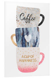 PVC-tavla  A cup of happiness - Elisabeth Fredriksson