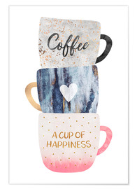 Poster  A cup of happiness - Elisabeth Fredriksson