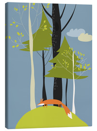 Canvastavla  Fox in the forest - Kidz Collection