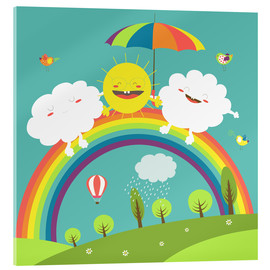 Akrylglastavla  Friendly weather - Kidz Collection