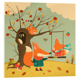 Akrylglastavla  Swingin' in the autumn wind - Kidz Collection