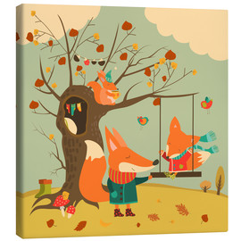 Canvastavla  Swingin' in the autumn wind - Kidz Collection
