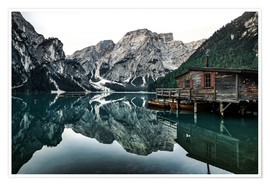 Premiumposter Lago di Braies - Lake Braies