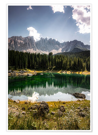 Premiumposter Lake Carezza - Karersee