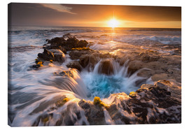 Canvastavla  Pools of Paradise during Sunset at the Coast of Hawaii (Big Island) - Markus Ulrich