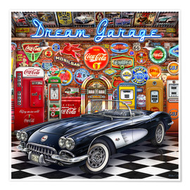 Premiumposter Dream Garage