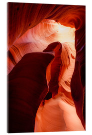 Akrylglastavla  Formation in Canyon X slot canyon, Page, Arizona, USA - Peter Wey