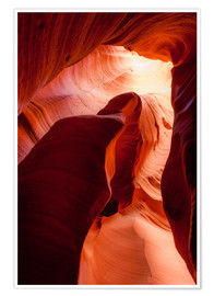 Premiumposter  Formation in Canyon X slot canyon, Page, Arizona, USA - Peter Wey