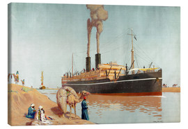 Canvastavla  Suez canal - Charles Pears