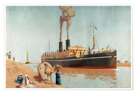 Premiumposter  Suez canal - Charles Pears