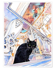 Premiumposter  Cat in the Hermitage, Saint-Petersburg - Anastasia Mamoshina