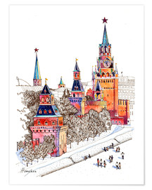 Premiumposter Kremlin, Red Square, Moscow