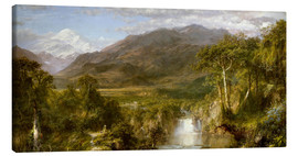 Canvastavla  Heart of the Andes - Frederic Edwin Church