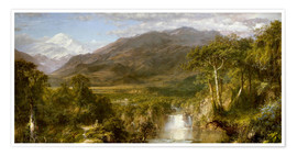 Premiumposter  Heart of the Andes - Frederic Edwin Church