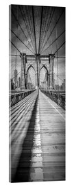 Akrylglastavla  NEW YORK CITY Brooklyn Bridge Panorama - Melanie Viola