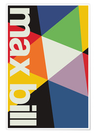 Poster  MAX BILL - SWISS MODERNISM - THE USUAL DESIGNERS