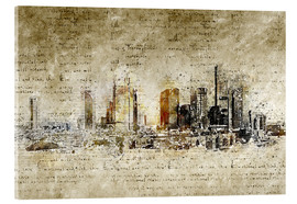 Akrylglastavla  Frankfurt skyline abstract vintage - Michael artefacti