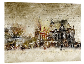 Akrylglastavla  Bremen market marketplace modern and abstract - Michael artefacti