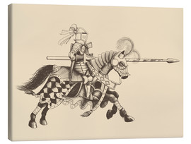 Canvastavla  Knight with armor and horse