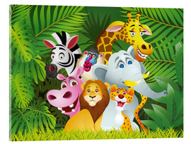 Akrylglastavla  My jungle animals - Kidz Collection