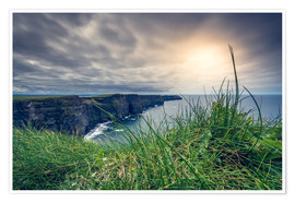 Premiumposter View over the cliffs of Moher, Ireland