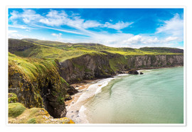 Premiumposter Carrick-a-Rede, Coast of Northern Ireland