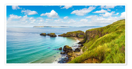 Premiumposter  Coast of Northern Ireland on a beautiful summer day