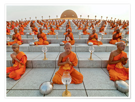 Premiumposter Wat Phra Dhammakaya temple on Makha Bucha Day
