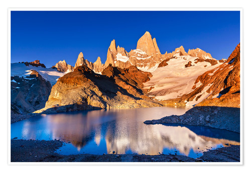 Premiumposter Mount Fitz Roy in Los Glaciares National Park, Argentina
