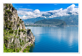 Premiumposter Summer view over Lake Garda