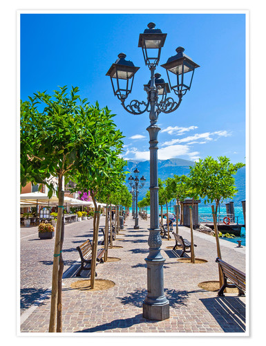 Premiumposter Village of Gargnano, Lake Garda Italy