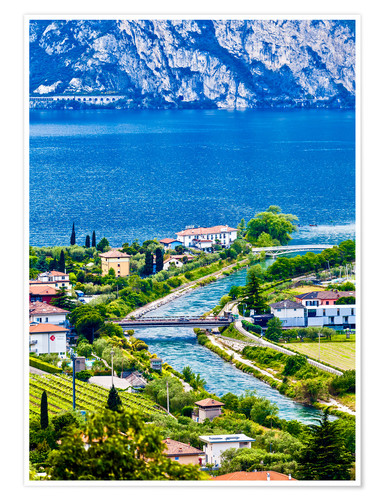 Premiumposter View of Lake Garda in Northern Italy