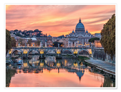 Premiumposter Rome in the evening