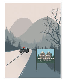 Premiumposter Welcome to Twin Peaks