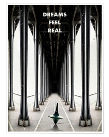 Premiumposter  Inception, Dreams Feel Real - 2ToastDesign