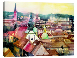Canvastavla  Graz, view to the cathedral - Johann Pickl