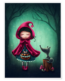Premiumposter Little red riding hood and the wolf
