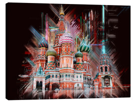 Canvastavla  Moscow Basilica Cathedral - Peter Roder