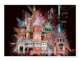 Premiumposter  Moscow Basilica Cathedral - Peter Roder