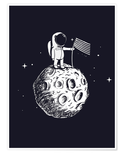 Premiumposter The first man on the moon