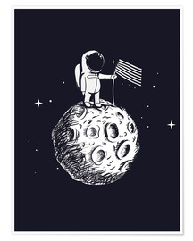 Premiumposter  The first man on the moon - Kidz Collection