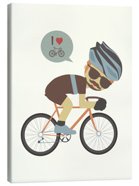 Canvastavla  I love cycling - Kidz Collection