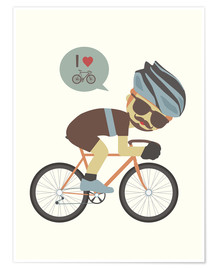 Premiumposter  I love cycling - Kidz Collection
