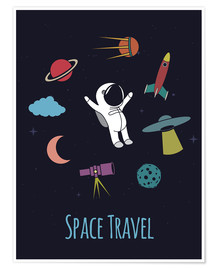 Premiumposter Space Travel Kid