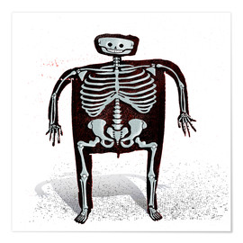 Premiumposter skeleton
