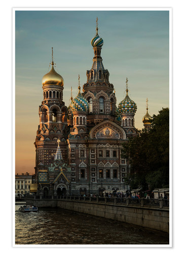Premiumposter Cathedral of the Savior in Sankt Petersburg