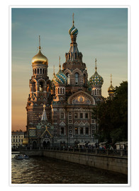 Premiumposter  Cathedral of the Savior in Sankt Petersburg - Jaroslaw Blaminsky