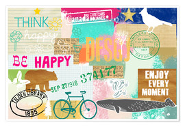 Premiumposter Enjoy every Moment Collage