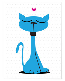 Premiumposter Blue cat