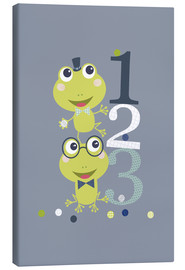 Canvastavla  Frogs playing with numbers - Jaysanstudio